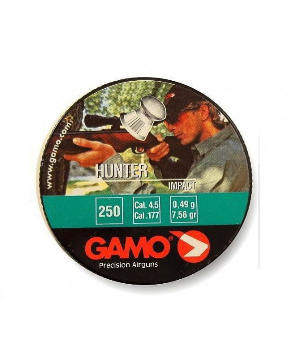 Пули Gamo Hunter 4,5 мм, 0,49 грамм, 250 штук