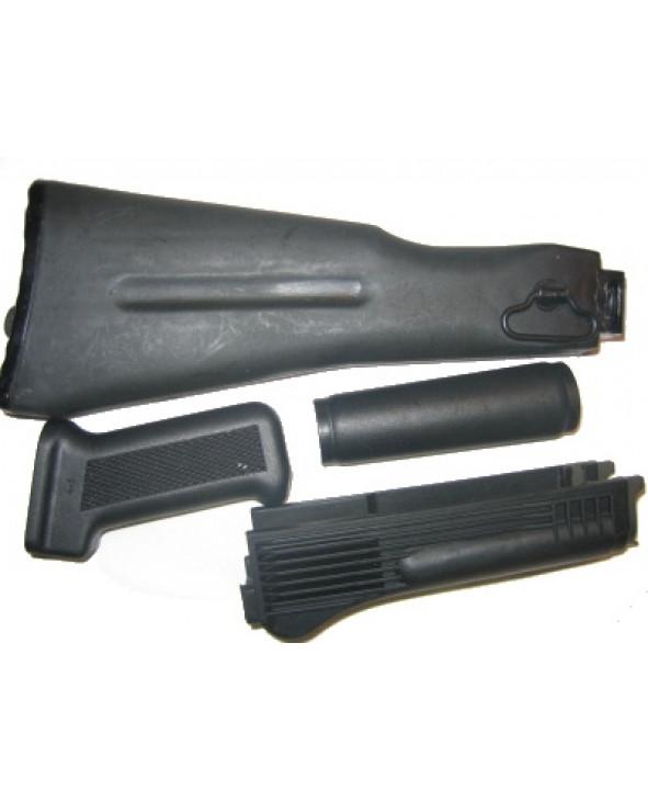 Комплект приклад, цевье, накладка, рукоятка для АК-74м,АК-103 ( складной приклад )