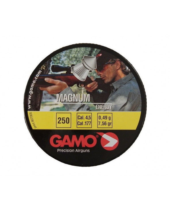 Пули Gamo Magnum 4,5 мм, 0,49 грамм, 250 штук