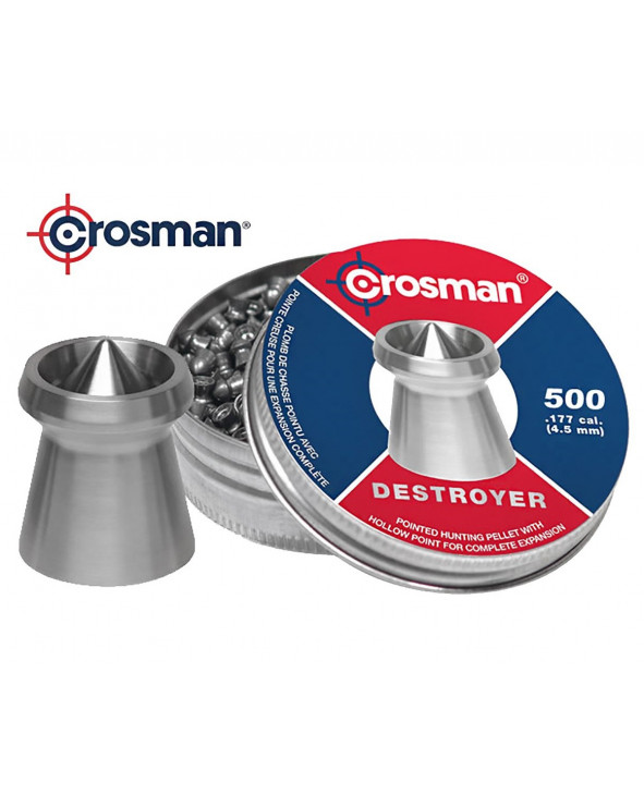 Пули Crosman Destroyer 4,5 мм, 0,51 грамм, 500 штук