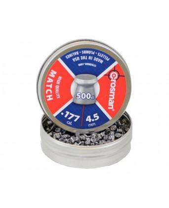 Пули Crosman Match 4,5 мм, 0,51 грамм, 500 штук