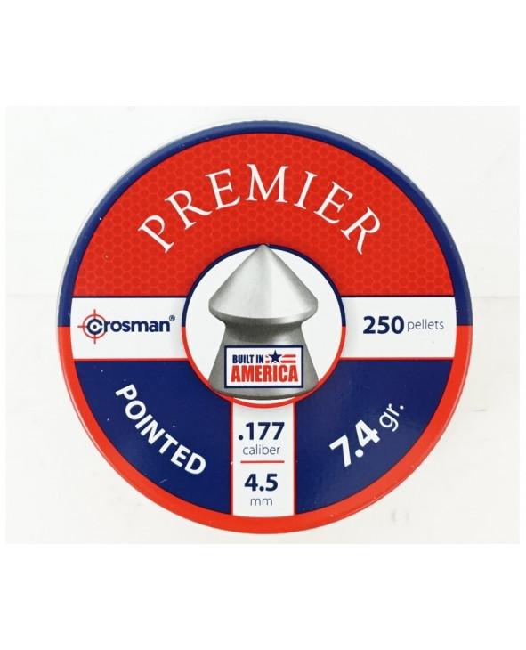 Пули Crosman Pointed 4,5 мм, 0,48 грамм, 250 штук