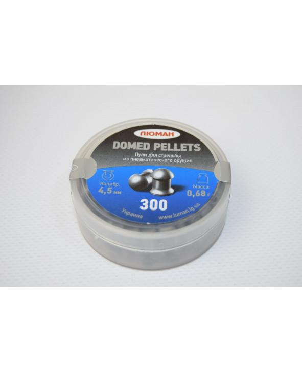 Пули Люман Domed Pellets 4,5 мм, 0,68 грамм, 300 штук