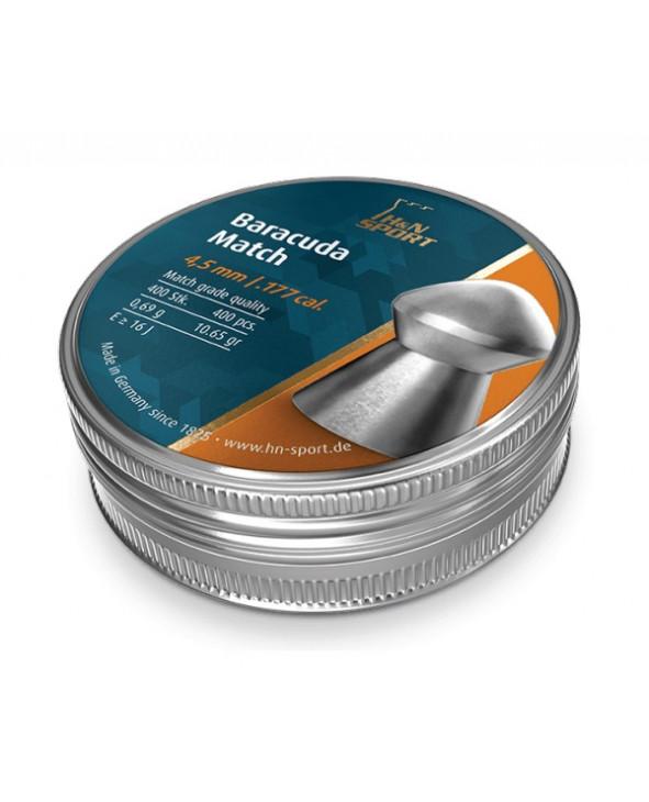 Пули H&N Baracuda Match 4,5 мм, 0,69 грамм, 400 штук