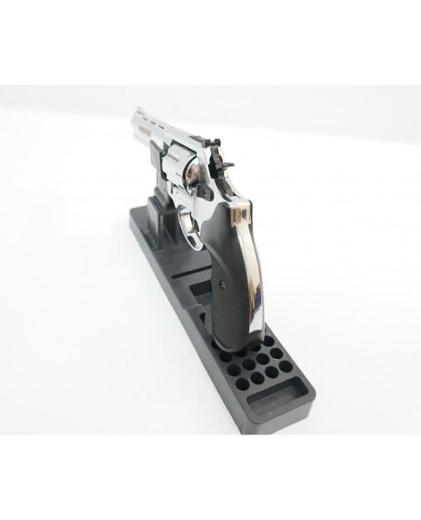"""Охолощенный СХП револьвер Taurus Kurs (4,5"""") 10ТК, хром"""