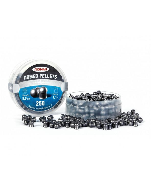 Пули Люман Domed Pellets 5,5 мм, 1,1 грамм, 250 штук