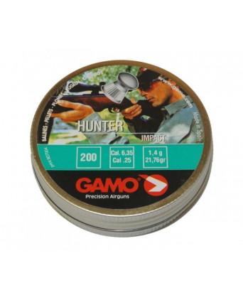 Пули Gamo Hunter 6,35 мм, 1,4 грамм, 200 штук