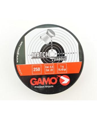 Пули Gamo Match 5,5 мм, 0,9 грамм, 250 штук