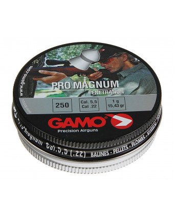 Пули Gamo Pro Magnum 5,5 мм, 1 грамм, 250 штук