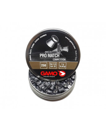 Пули Gamo Pro Match 5,5 мм, 1 грамм, 250 штук