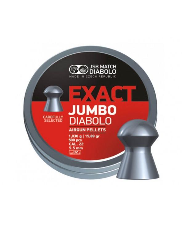 Пули JSB Exact Jumbo Diabolo 5,5 мм, 1,03 грамм, 500 штук