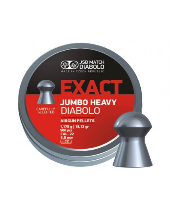 Пули JSB Exact Jumbo Heavy Diabolo 5,5 мм, 1,175 грамм, 500 штук
