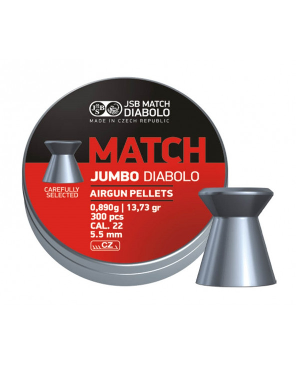 Пули JSB Exact Jumbo Match Diabolo 5,5 мм, 0,89 грамм, 300 штук