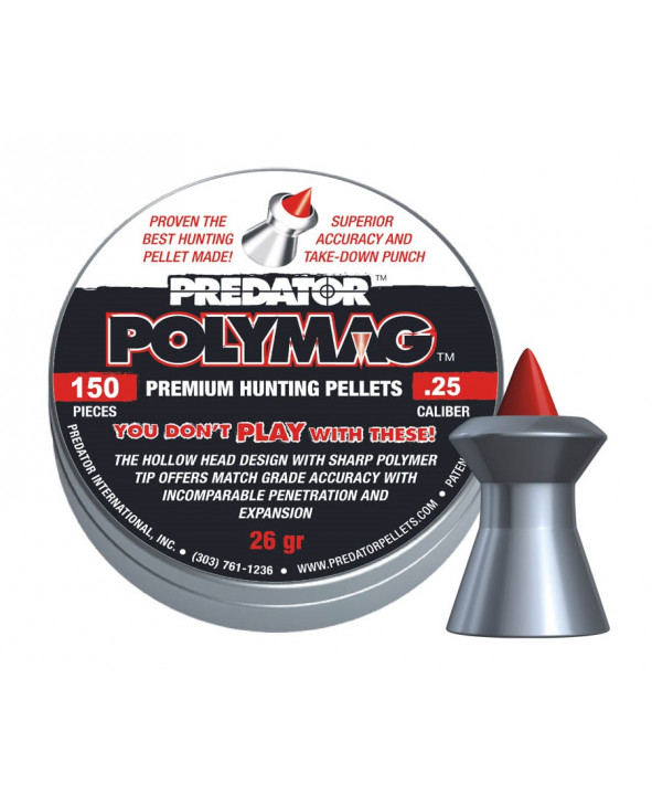 Пули JSB Predator Polymag 6,35 мм, 1,04 грамма, 150 штук