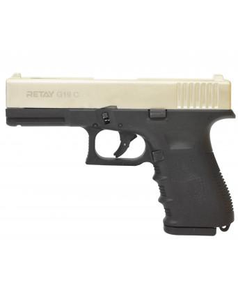 Охолощенный пистолет Retay Glock 19C (Сатин)