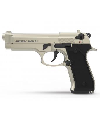 Охолощенный СХП пистолет Retay MOD92 (Beretta) 9mm P.A.K, сатин