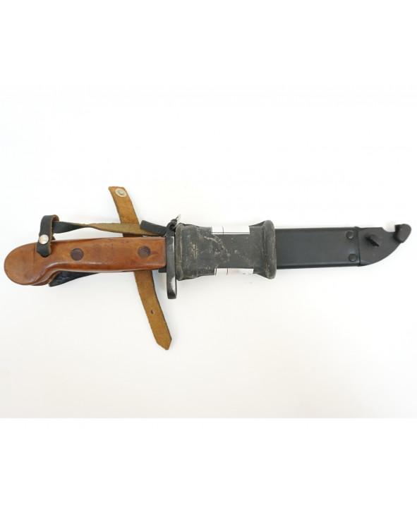 ММГ штык-нож АК ШНС-001-01 (для АКМ), коричн. рукоятка с резин. накладкой «Люкс»