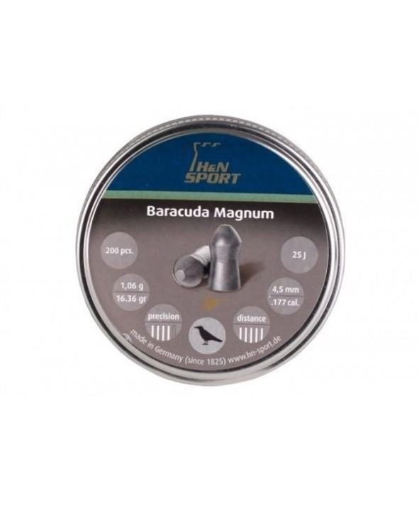 Пули H&N Baracuda Magnum 4,5 мм, 1,06 грамм, 200 штук