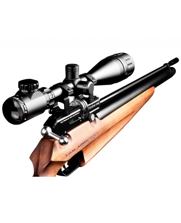 Пневматическая винтовка Kral Puncher Pro (орех, PCP)