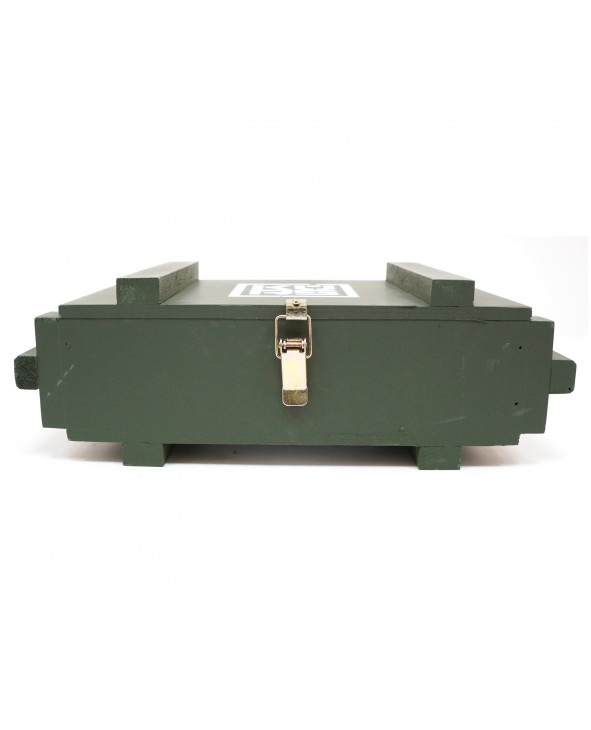 Деревянный ящик в военном стиле 300x170x80 мм