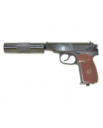 Пневматический пистолет МР-654К-22 (ПМ, с глушителем)