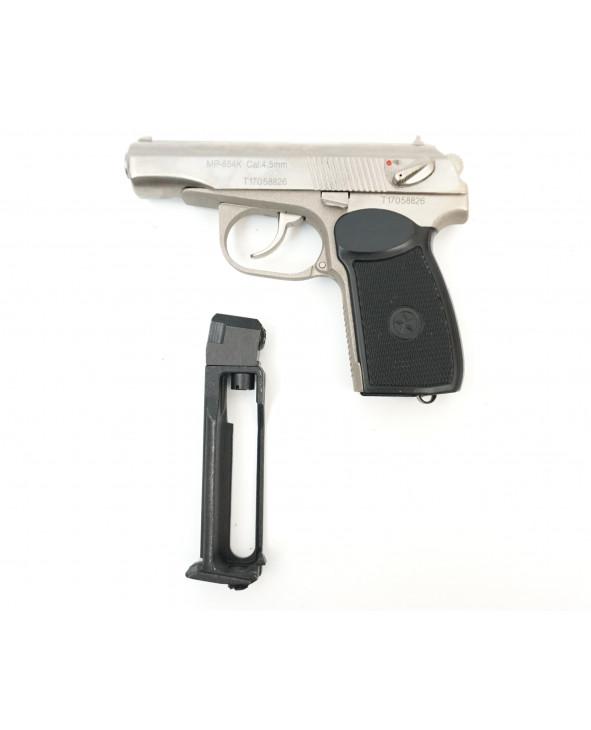 Пневматический пистолет МР-654К-24 (ПМ, белый затвор)