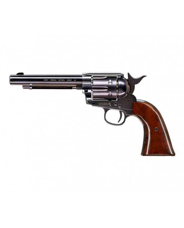 "Пневматический револьвер Umarex Colt Single Action Army (SAA).45 Blue, пулевой (5,5"")"