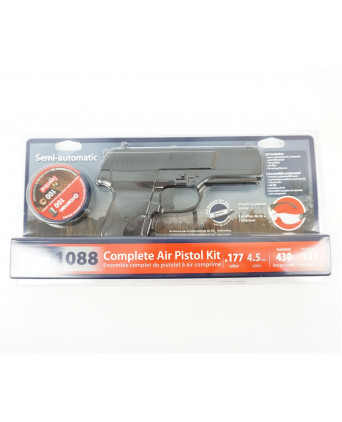 Пневматический пистолет Crosman 1088 BG Kit (пули+очки)