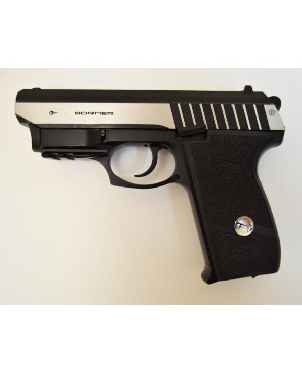 Пневматический пистолет Borner Panther 801, с ЛЦУ