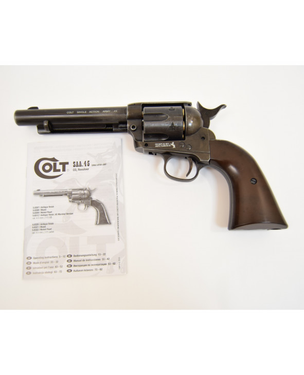 "Пневматический револьвер Umarex Colt Single Action Army (SAA).45 BB Antique (5,5"")"
