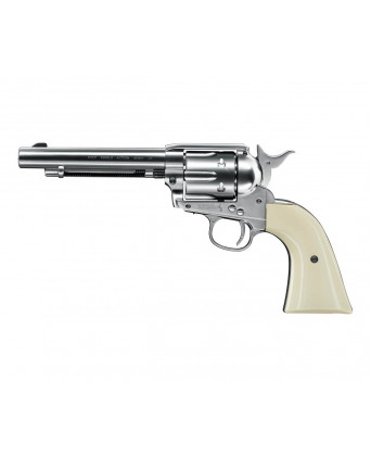 "Пневматический револьвер Umarex Colt Single Action Army (SAA) .45 Nickel, пулевой (5,5"")"