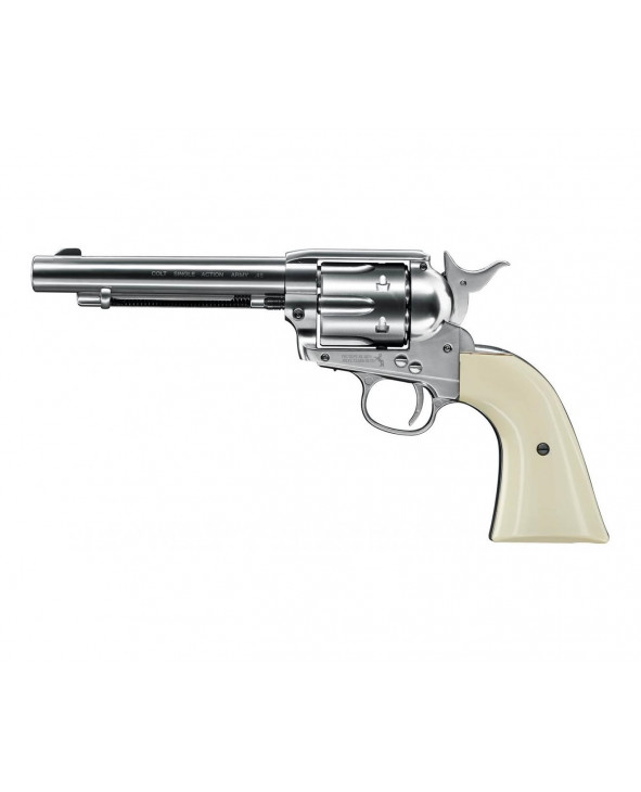 "Пневматический револьвер Umarex Colt Single Action Army (SAA).45 Nickel, пулевой (5,5"")"