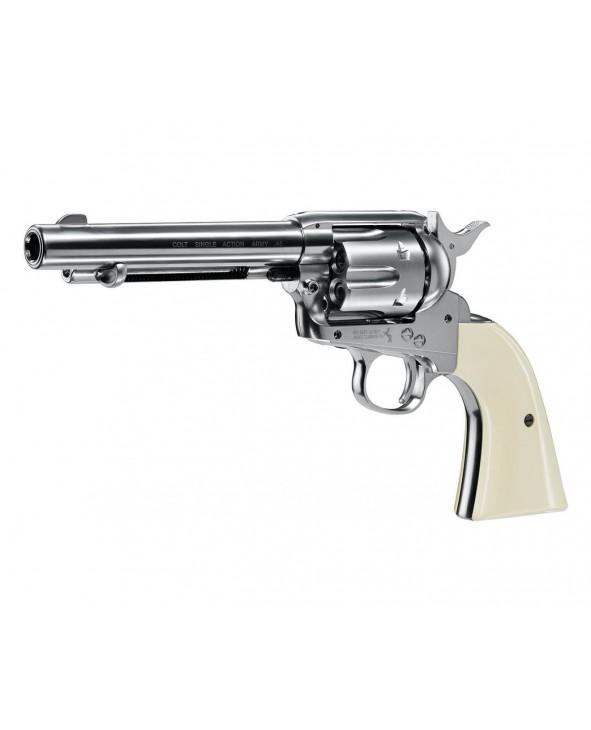 """Пневматический револьвер Umarex Colt Single Action Army (SAA).45 Nickel, пулевой (5,5"""")"""