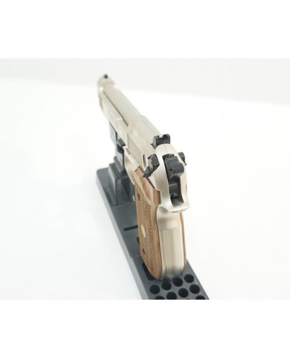 Пневматический пистолет Umarex Beretta 92 FS (никель, дерево)
