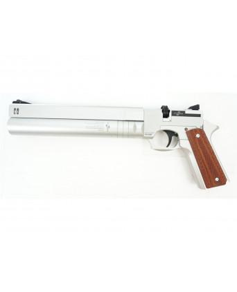 Пневматический пистолет Ataman AP16 Silver (стандарт, металл, PCP) 5,5 мм