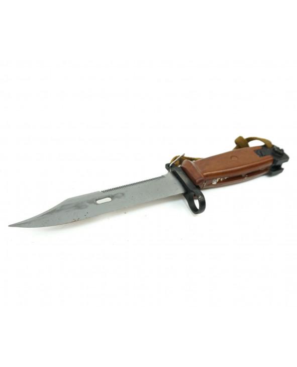ММГ штык-нож АК ШНС-001 (для АК74) в коробке, коричн. ножны и рукоятка