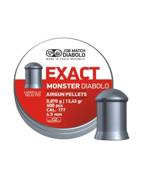 Пули JSB Exact Monster Diabolo 4,5 мм, 0,87 грамм, 400 штук