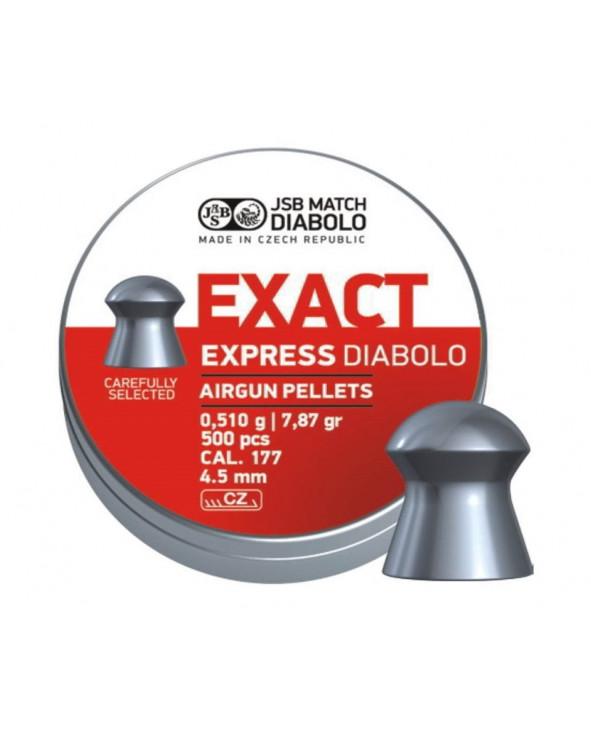 Пули JSB Exact Express Diabolo 4,5 мм, 0,51 грамм, 500 штук