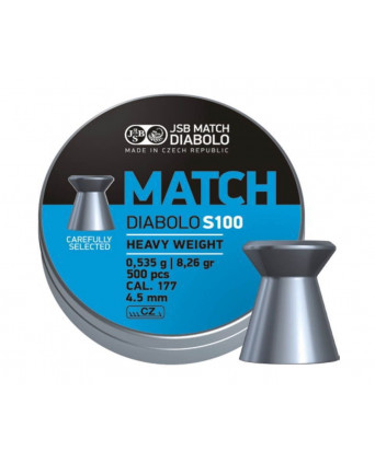 Пули JSB Blue Match Diabolo S 100 4,5 мм, 0,535 грамм, 500 штук