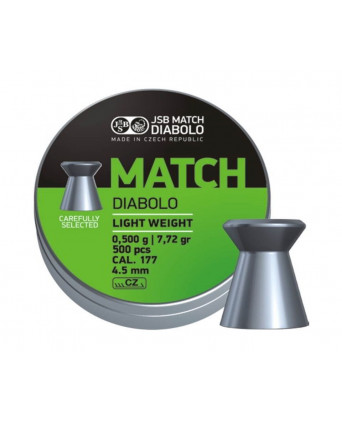 Пули JSB Green Match Diabolo Light 4,5 мм, 0,50 грамм, 500 штук