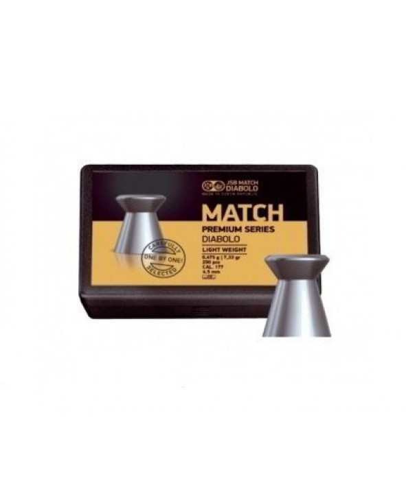 Пули JSB Match Premium Light 4,5 мм, 0,475 грамм, 200 штук