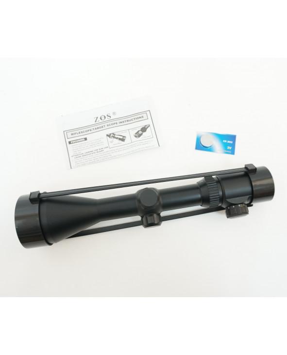 Оптический прицел ZOS 3-9x56 E (R10, крест) 30 мм, подсветка